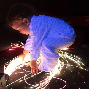 fiber optic sensory lights