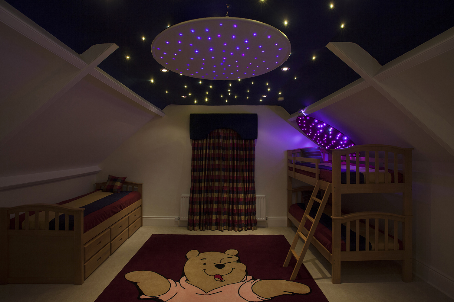 fiber optic star ceiling fabric fixture