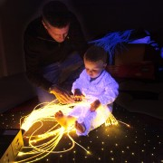 James and Tom sensory fiber optic lighting kit